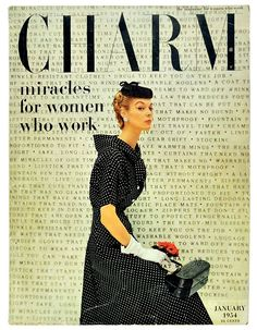 Charm cover, 1954 Cipe Pineles