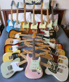 My Fender Custom Shop guitars.  Final Group Gathering.
