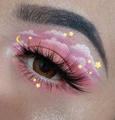 Indie Makeup, Edgy Makeup, Makeup Eye Looks, Eye Makeup Art, Crazy Makeup, Skin Makeup, Eyeshadow Makeup, Cool Makeup, Grunge Eye Makeup
