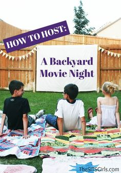 Say hello to summer by throwing your own Backyard Movie Night! Use this inspiration to plan the ultimate outdoor party for the whole family to enjoy together.