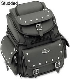 Motorcycle Luggage Rack Bag Prepossessing Studded Motorcycle Bags  Studded Motorcycle Touring Bag Inspiration Design