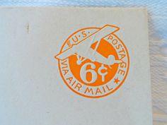 Vintage 6 Cent Airmail Envelope