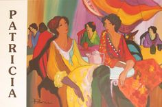 Patricia Govezensky Seven Women in a Cafe Poster Print by HodesH, $50.00