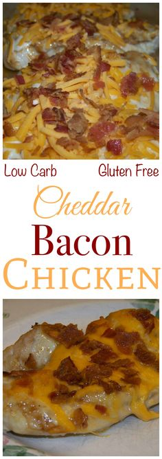This cheddar bacon chicken recipe turns plain chicken breast into something spec. CLICK Image for full details This cheddar bacon chicken recipe turns plain chicken breast into something special. For even more flavor, a. High Protein Low Carb, Low Carb Diet, Banting Recipes, Ranch Dressing, Paleo Dressing, Cooking Recipes, Pasta Recipes, Crockpot Recipes, Soup Recipes