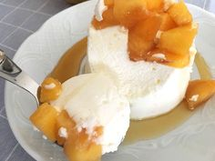 postres recetas delikatissen postres rápidos postres individuales postres fáciles postres en vasito postres de yogur postres con fruta melocotón de Calanda Flan de yogur
