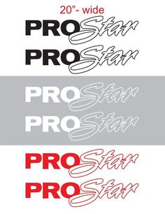 "2pcs 20"" PROSTAR Contour Vinyl Sticker Decal Graphic INTERNATIONAL SEMI TRUCK #Oracal"