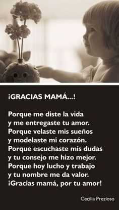Este Día de las Madres haz un pequeño homenaje a ese cariñoso ser que siempre está a tu lado. Mother Poems, Mothers Day Poems, Happy Mother Day Quotes, Mother Quotes, Mom Quotes, Family Quotes, Happy Mothers Day, Life Quotes, Dad In Spanish