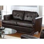Acme Furniture - Diamond Bonded Leather Loveseat in Brown - 15071B