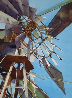 windmill art by Jody Henderer Burns