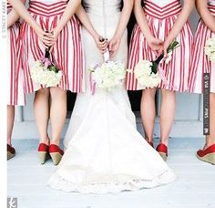 red and white bridesmaids | CHECK OUT MORE IDEAS AT WEDDINGPINS.NET | #weddings #redwedding #red #passion #events #forweddings