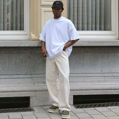 Cute Boy Outfits, Stylish Mens Outfits, White Outfit For Men, Leather Jacket Outfits, Urban Outfits, Fashion Books, Looks Cool, Aesthetic Clothes, Menswear