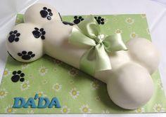 Dog Bone Cake, Foundant, Puppy Cake, Dog Bakery, Farm Cake, Dog Cookies, Crazy Cakes, Puppy Party, Homemade Dog Treats