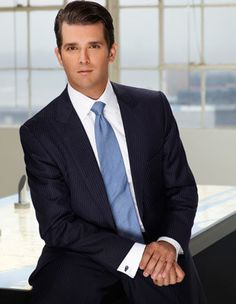 DONALD TRUMP, JR  ⇨ Follow City Girl at link https://www.pinterest.com/citygirlpideas/ for great pins and recipes!  ☕
