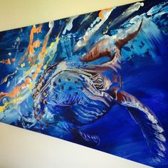 This is my favourite painting I've ever done; an abstract with a humpback whale.