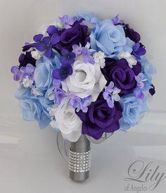 blue-white-wedding-bouquet - Buscar con Google