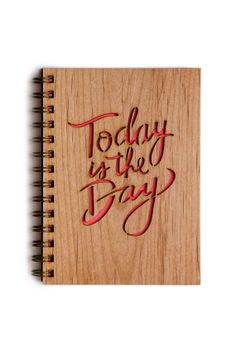 Inspirational Journal Today is the Day by Cardtorial on Etsy, $20.00