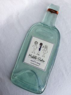 Middle Sister Sweet and Sassy Melted Wine Bottle by TheWineLadyco