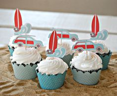 The Vintage Surf Collection  Custom Cupcake by maryhadalittleparty, $8.40