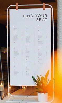 Wedding Designs 6 Modern Signage Installations for a Contemporary Wedding Event Signage, Wayfinding Signage, Signage Design, Wedding Signage, Wedding Ceremony, Banner Design, Wedding Venues, Wedding Table, Destination Wedding