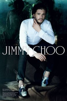Jimmy Choo Fall 2014 featuring Game of Thrones star, Kit Harington.  See more stellar ad campaigns from Fall 2014 here!