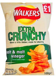 Crisps that taste great.  —- Le patatine con un grande gusto.  #patatine #crisps #walkers #chips —> http://www.richmonds.it/item/walkers-salt-vinegar-150g.html