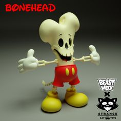 Bonehead 6-inch vinyl figure by Beast Wreck x Strangecat Toys PREORDER ships Q4 2021 Vinyl Toys, Vinyl Art, Designer Toys, Custom Vinyl, Vinyl Figures, The Incredibles, Espresso Machine, Spin, Funny