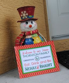 Welcome Sign for Christmas Party or Family Dinner