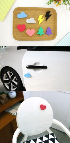 So cool! This Iconic Door Guard can be used to attach to your car door to prevent door dings when parking in tight parking spaces. You can also attach the Iconic Door Guard to your closet doors or the walls near doors that can easily be dinged.