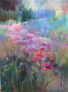 Pinks by Mary Maxam Oil ~ 24 x 18