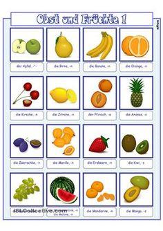 Deutsch Language, Kindergarten Portfolio, German Language Learning, German Words, School Subjects, Learn German, Fruit And Veg, Make It Simple, Teaching