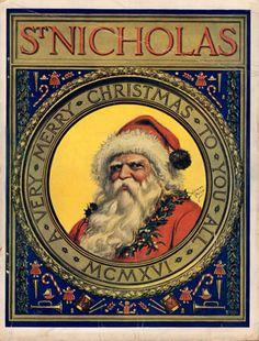 St Nicolas Magazine cover 1916. Thomas Nast illustrator