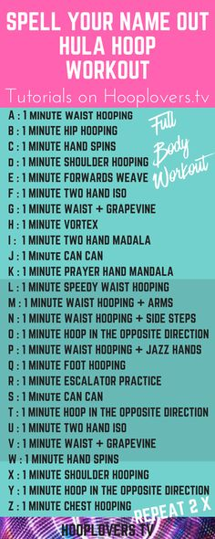 Pin this one for a bit of workout fun : Spell your name out Hula Hoop Workout. All tutorials for each move on the blog post.