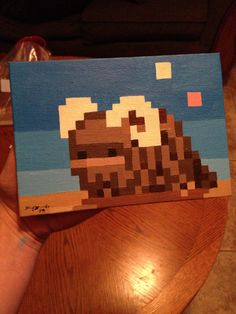 Painted this 2 years ago for a friend. One of the first pieces of pixel art that I've done. It's a BANTHA!!!