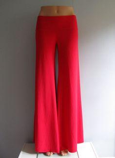 134c4de58 Bamboo / Organic Cotton Yoga Pants in Red from Lunar Rose, $56 Dance Wear,