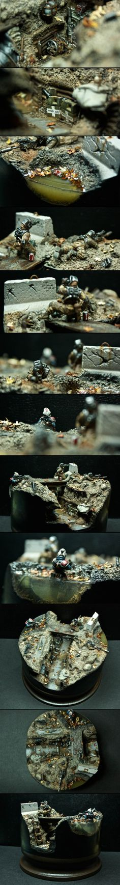 I am two bullets - Warhammer 40K Imperial Guard diorama