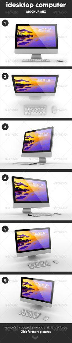 Small iDesktop Mockup - Monitors Displays