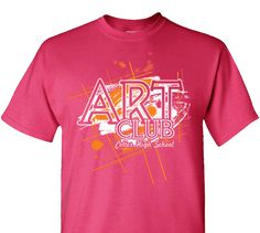 165b1adb High School Impressions Custom Art Club Tees - Create your own design for t- shirts, hoodies, sweatshirts. Choose your Text, Ink and Garment Colors