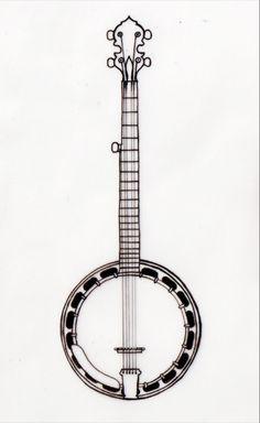 a perfectly simple banjo tat design.