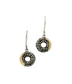 Celtic Medallion Silver and Gold Earrings
