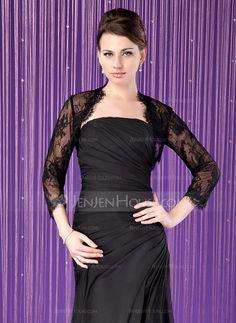 Wraps - $42.99 - 3/4-Length Sleeve Lace Special Occasion Wrap (013024284) http://jenjenhouse.com/Party-Evening-Lace-Wraps-013024284-g24284