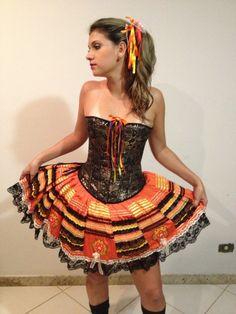 Caipiras Adulto :: Yang Festas e Fantasias Lolita Dress, Strapless Dress, Summer Dresses, Ali, Fashion, Hillbilly Party, Party Fashion, Costumes, Dressmaking