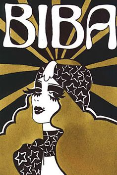 Biba logo from Barbara Hulanicki book signing - EARLY EVENING EVENT! We're honoured and delighted to jointly be hosting, with Black Spring Press, a book signing / meet and greet with living legend BARBARA HULANICKI, the founder of Biba! Biba Fashion, Fashion Mode, Vintage Fashion, Fashion Bags, 70s Disco Fashion, Sixties Fashion, Trendy Fashion, Fashion 2018, Vintage Clothing