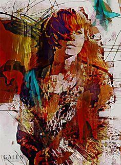 Myrrh - Digital mixed media portrait by Galen Valle. Redhead Art, Mixed Media Artists, Beautiful Artwork, Art Boards, Original Artwork, Fine Art Prints, Art Gallery, Portrait, Abstract