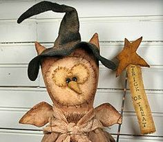 Ollie Lou Primitive Owl Pattern by softinthehead on Etsy
