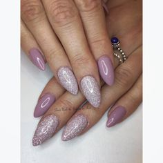Prohesion sculpted nails with the gel bottle n93 and magpie glitter Angel sprinkled