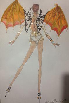 """Figurino:""""Victoria Secrets Style """"( lingerie)."""
