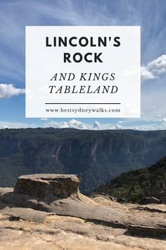 Located south of Wentworth Falls on the Kings Tableland plateau, Lincoln's Rock is one of the most impressive lookout points in the Blue Mountains! Point Lookout, Great Western, Blue Mountain, South Wales, Great View, Australia Travel, Lincoln, Places To See