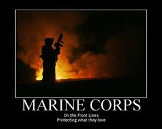 Marine Corps: On the front lines protecting what (and who) they love