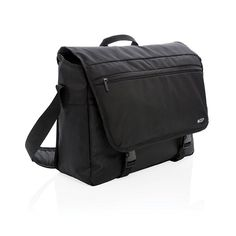 "A protective 600D and 1680D messenger bag with modern details and plenty of room for your daily essentials. Including padded 15"" laptop and 10"" tablet compartment. Padded, adjustable shoulder strap for easy portability. Zippered front pocket with RFID protected sleeves and top front zippered pocket for a small accessory. Including luggage strap. PVC free."