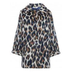 Manteau tacheté léopard en laine et mohair - Liu Jo